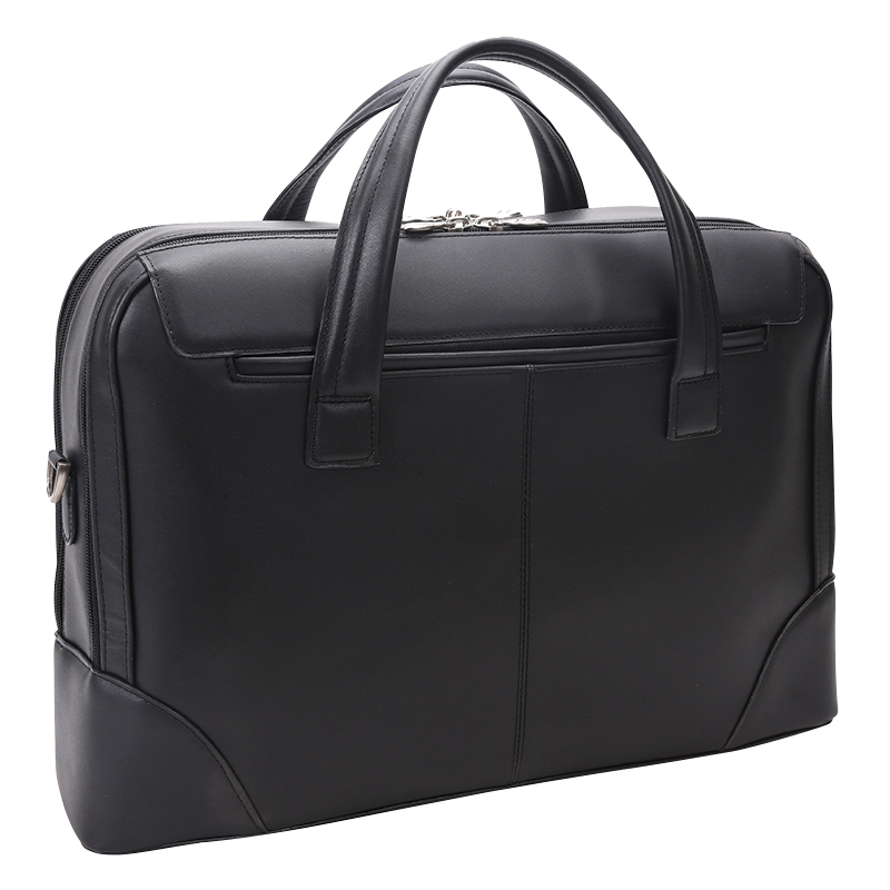 Harpswell Leather Laptop Briefcase - Black