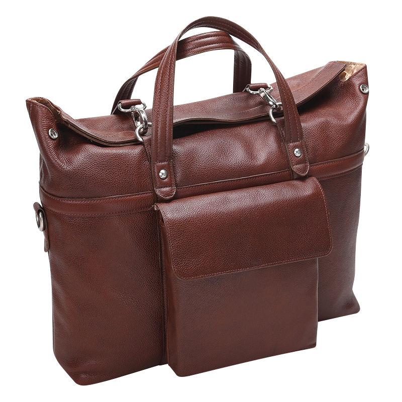Edgefield Leather Laptop Bag - Brown