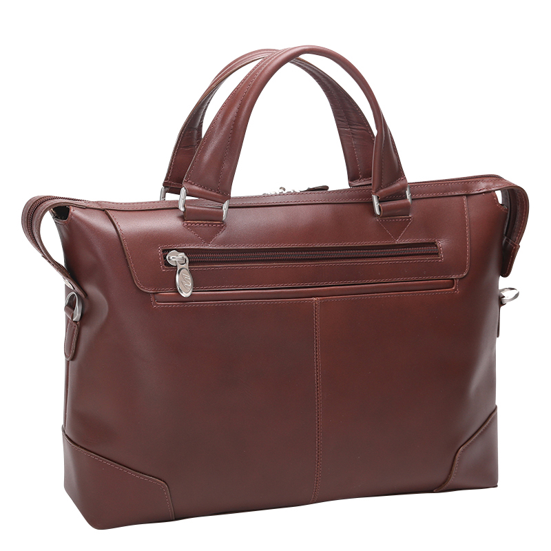 Arcadia Leather Laptop Briefcase - Brown