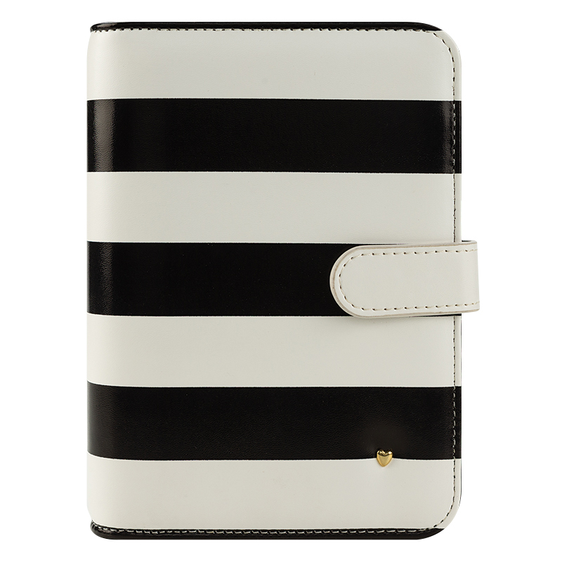 Pocket Planner Love Simulated Leather Snap Binder - Striped