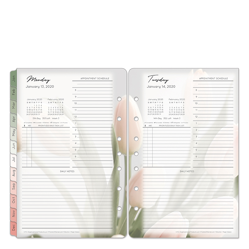 Classic Blooms One-Page-Per-Day Ring-bound Planner - Jan 2020 - Dec 2020