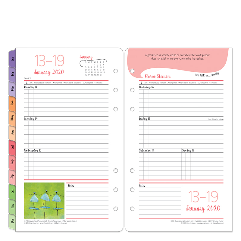 Pocket Her Point of View Weekly Ring-bound Planner - Jan 2020 - Dec 2020