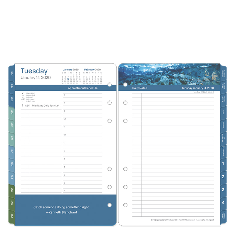 Compact Leadership Daily Ring-bound Planner - Jan 2020 - Dec 2020