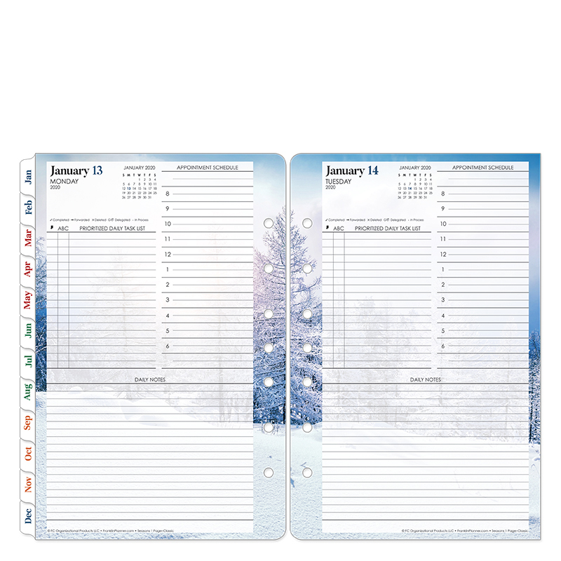 Classic Seasons One-Page-Per-Day Ring-bound Planner - Jan 2020 - Dec 2020