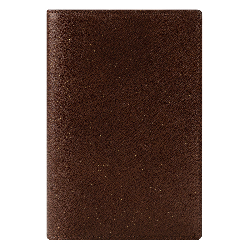 Pocket Baria Leather Open Binder - Choco