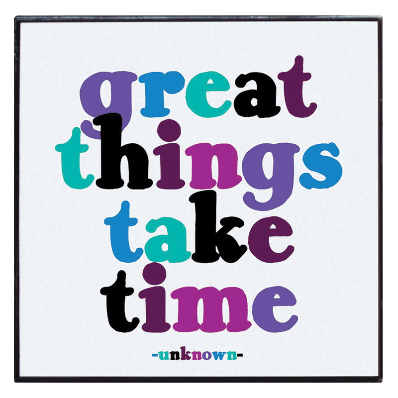Enamel Pin - Great Things Take Time