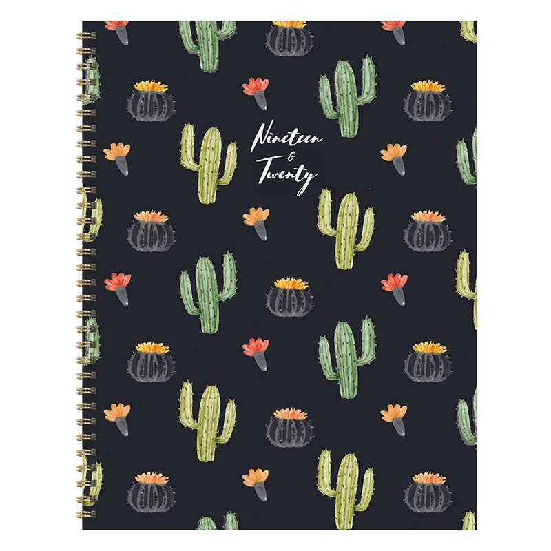 Black Cactus Large Weekly/Monthly Academic Planner - July 2019 - June 2020