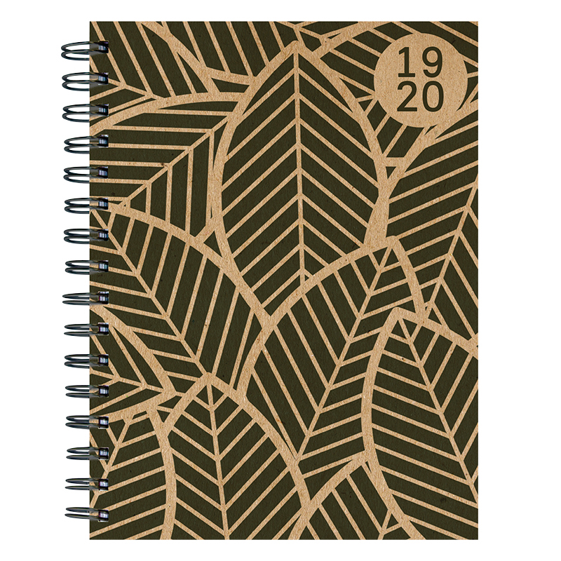 Kraft Foliage Medium Weekly/Monthly Academic Planner - July 2019 - June 2020