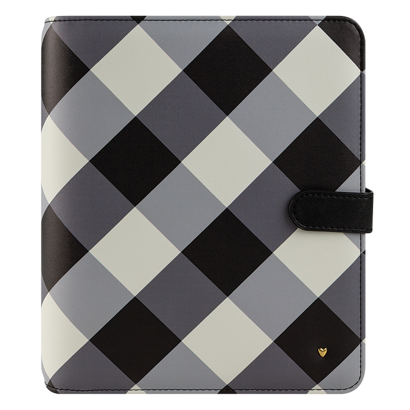 Classic Planner Love Gingham Farm Simulated Leather Snap Binder - Gingham