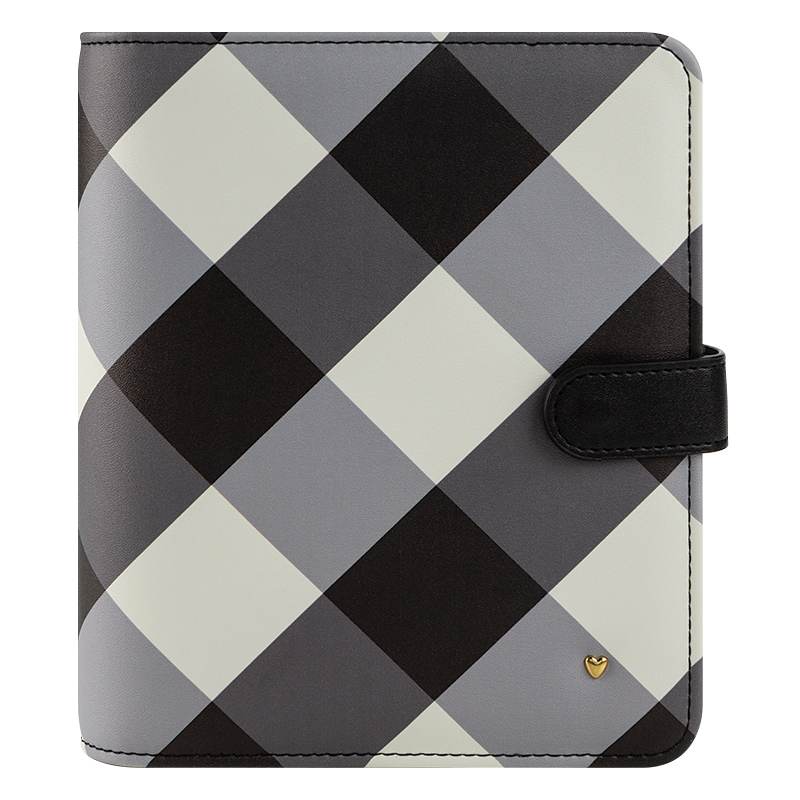 Compact Planner Love Gingham Farm Simulated Leather Snap Binder - Gingham