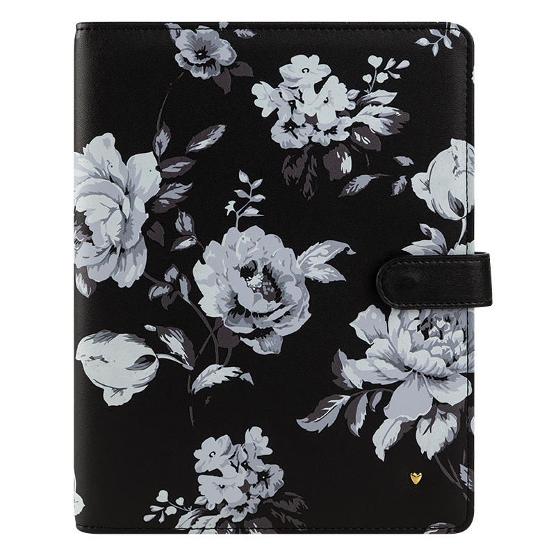 Classic Planner Love Gingham Farm Simulated Leather Wirebound Cover - Floral