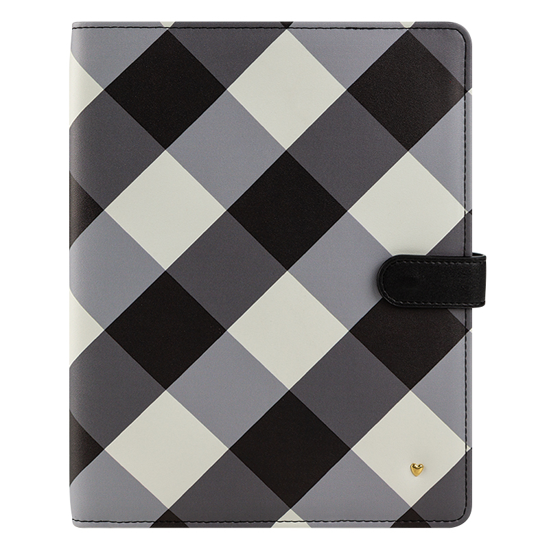 Classic Planner Love Gingham Farm Simulated Leather Wirebound Cover - Gingham