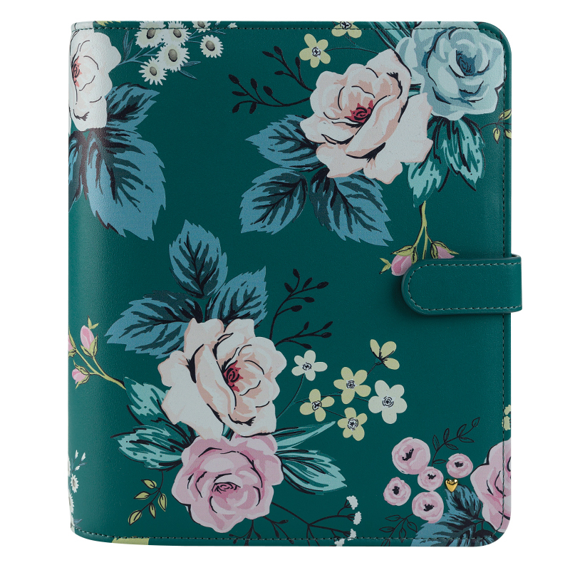 Classic Planner Love Splendor Simulated Leather Snap Binder - Floral