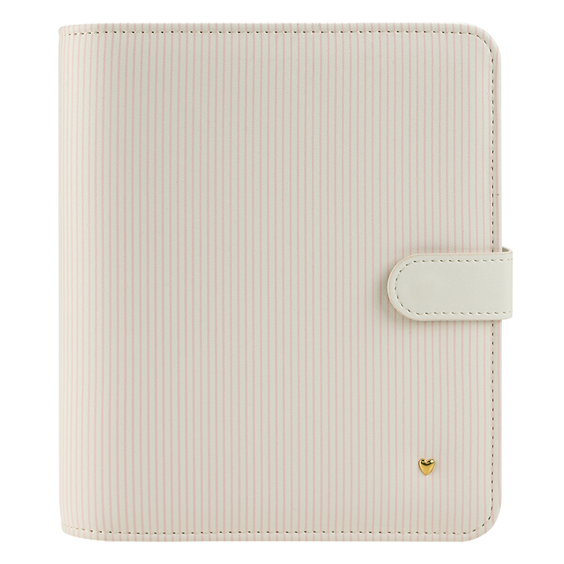 Compact Planner Love Splendor Simulated Leather Snap Binder - Striped
