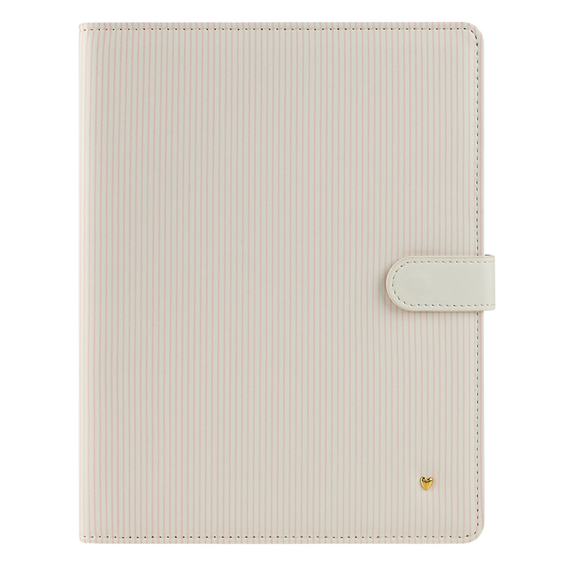 Classic Planner Love Splendor Simulated Leather Wirebound Cover - Striped