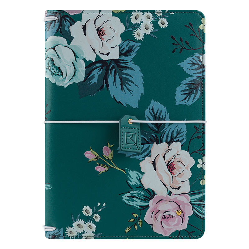 Classic Planner Love Splendor Simulated Leather Elastic Cover - Floral Travelers