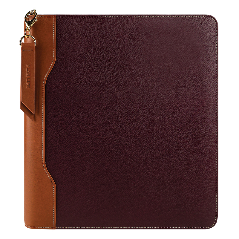 Monarch Libby Leather Zipper Binder - Fig