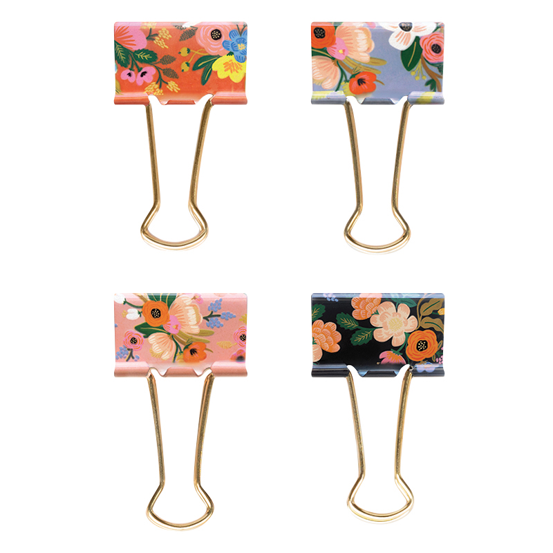 Binder Clips - Lively Floral