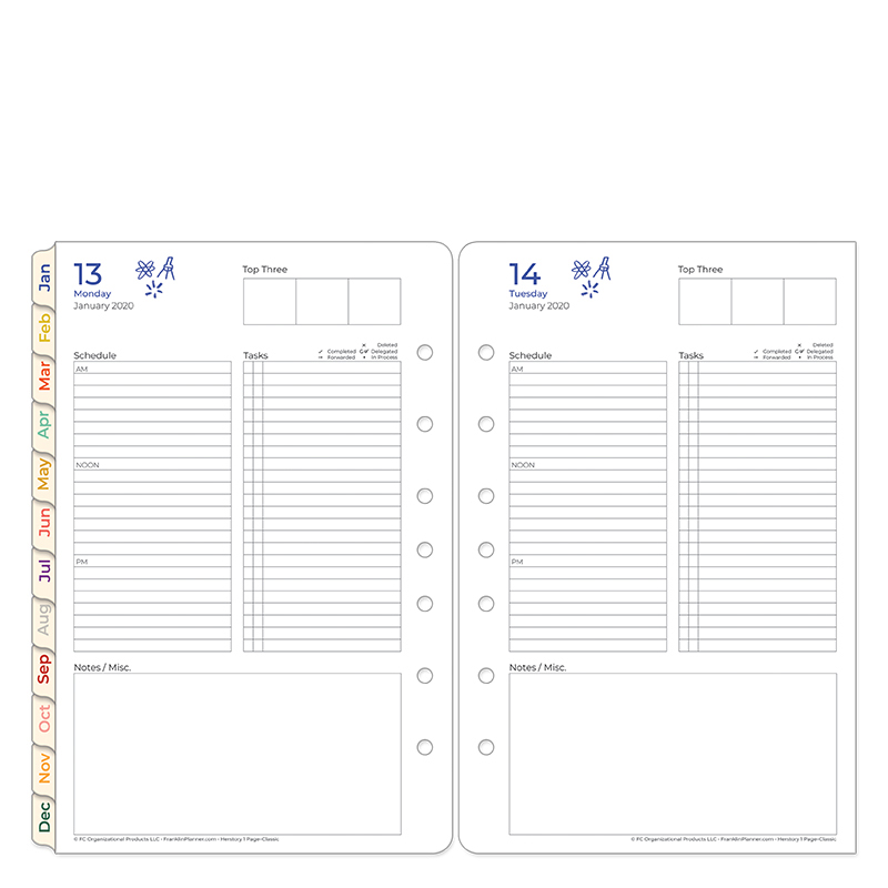 Classic HerStory 1 Page Per Day Ring-bound Planner - Jan 2020 - Dec 2020