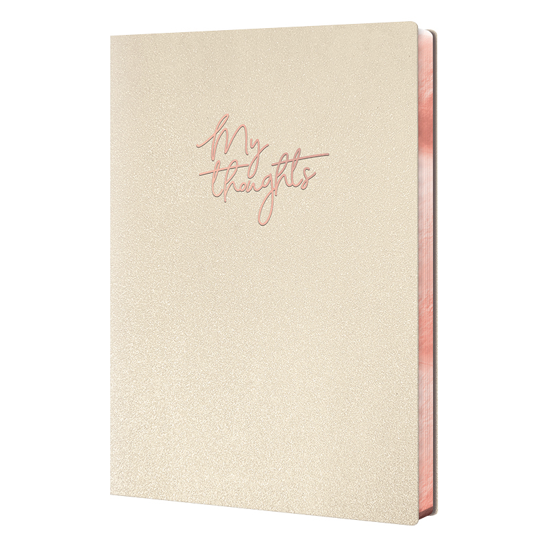 Leatheresque Medium Journal - Pearl Shimmer