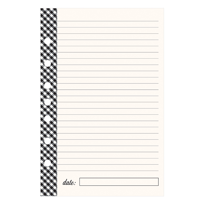 Classic Planner Love Lined Notepad - Gingham Farm