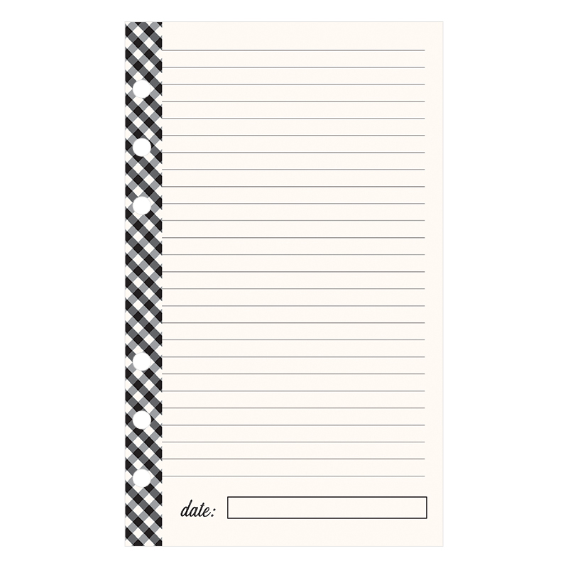 Compact Planner Love Lined Notepad - Gingham Farm