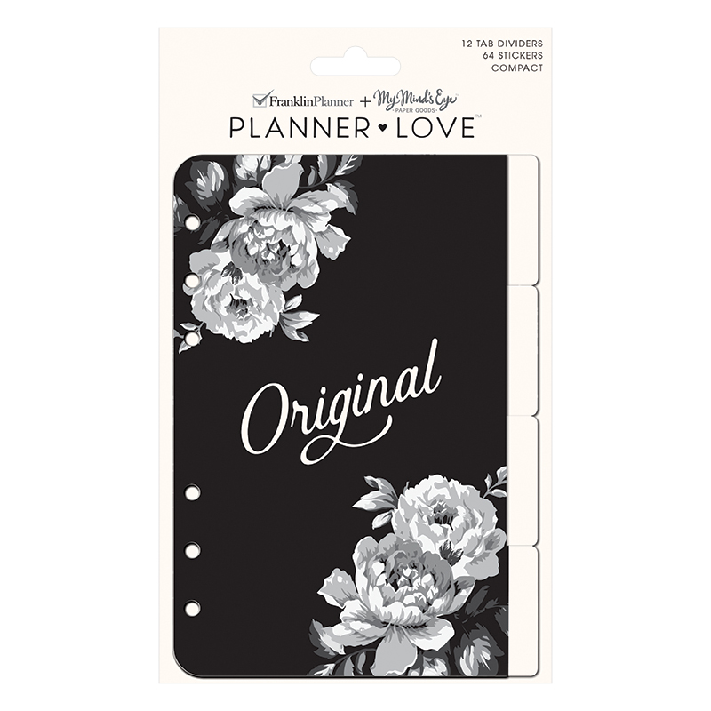 Compact Planner Love Tab Dividers - Gingham Farm