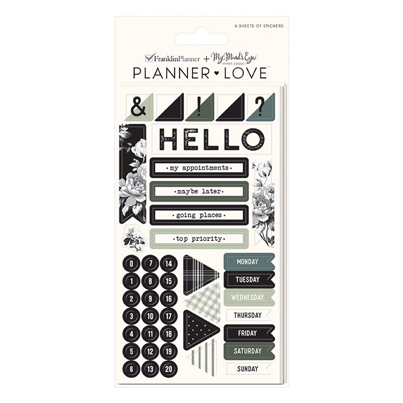 Planner Love Sticker Sheets - Gingham Farm