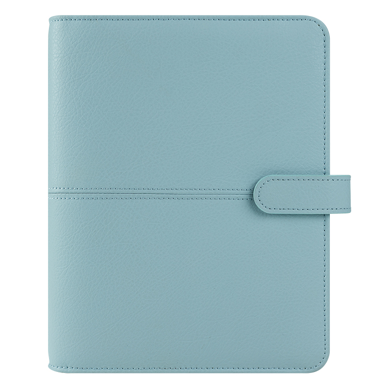 Classic Anna Leather Snap Binder - Starlight Blue