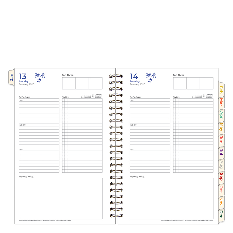 Classic HerStory 1 Page Per Day Wire-bound Planner - Jan 2020 - Dec 2020