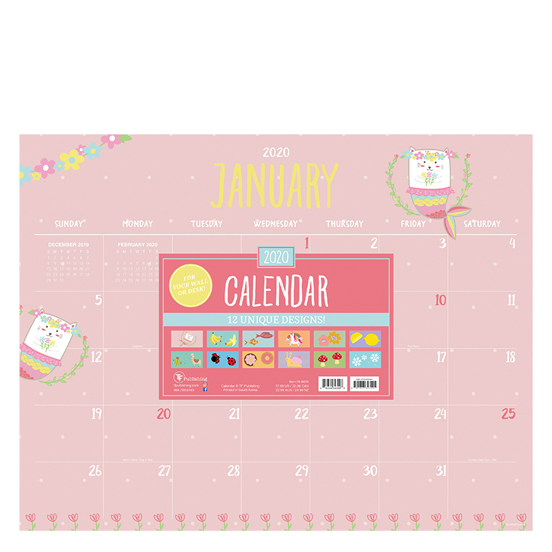 2020 Monthly Theme Desk Pad Calendar