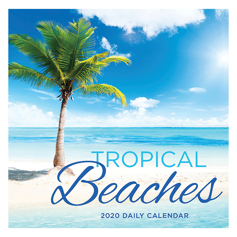 2020 Tropical Beaches Daily Desktop Calendar
