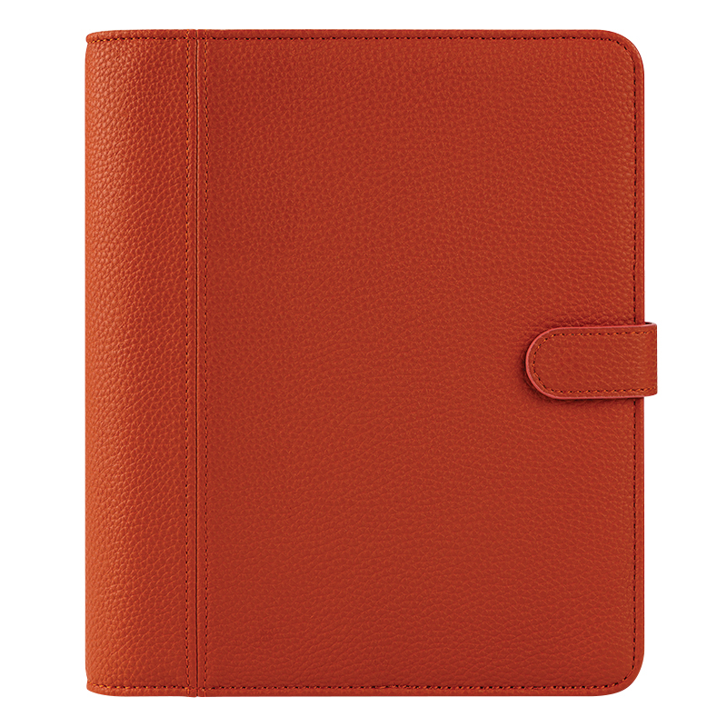Classic Millie Simulated Leather Snap Binder - Coral