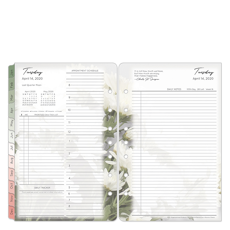 Classic Blooms Daily Ring-bound Planner - Apr 2020 - Mar 2021