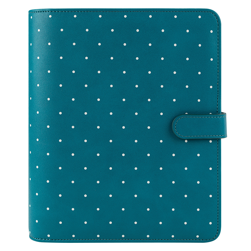 Classic Ivy Simulated Leather Snap Binder - Teal