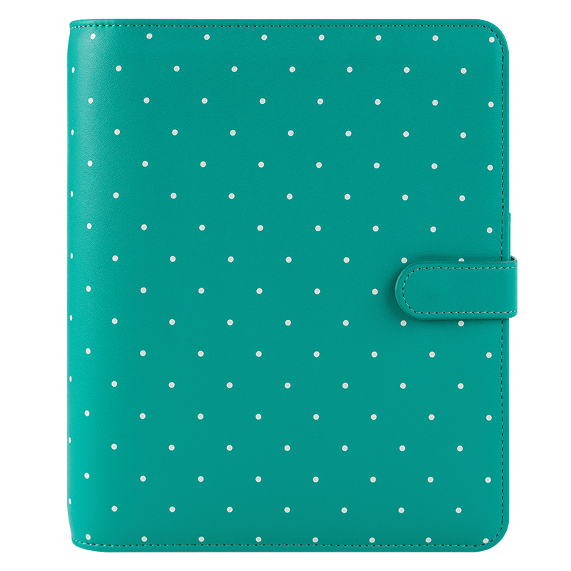 Classic Ivy Simulated Leather Snap Binder - Jade