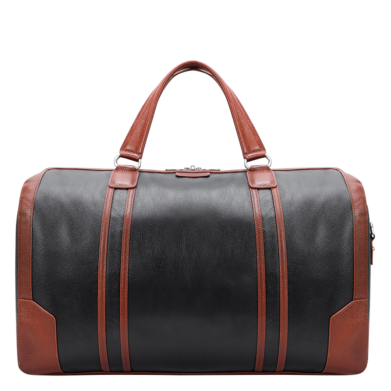 Kinzie Leather Duffle - Black