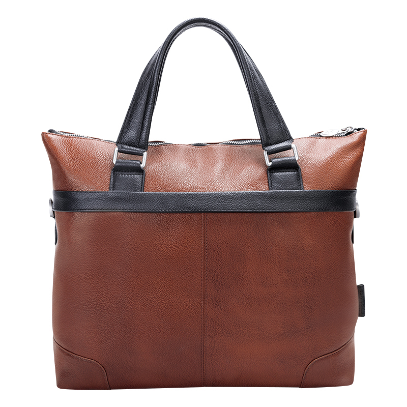Eastward Leather Briefcase - Brown