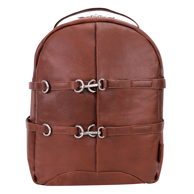 Oakland Leather Backpack - Brown