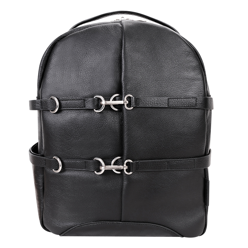 Oakland Leather Backpack - Black