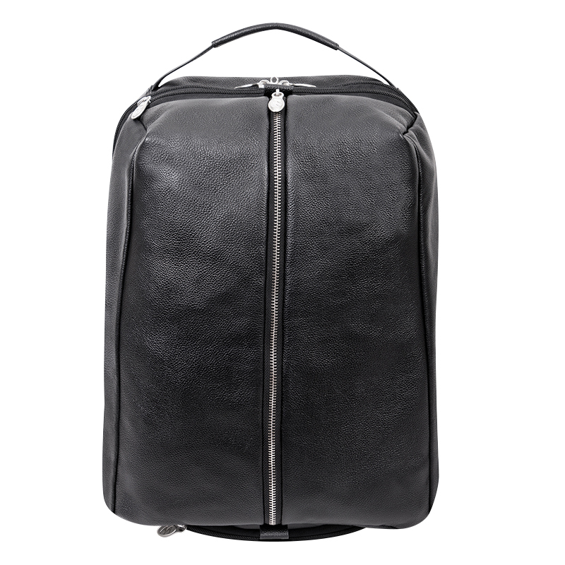South Shore Leather Backpack - Black