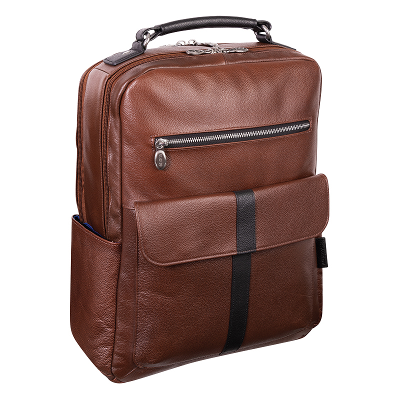Logan Leather Backpack - Brown
