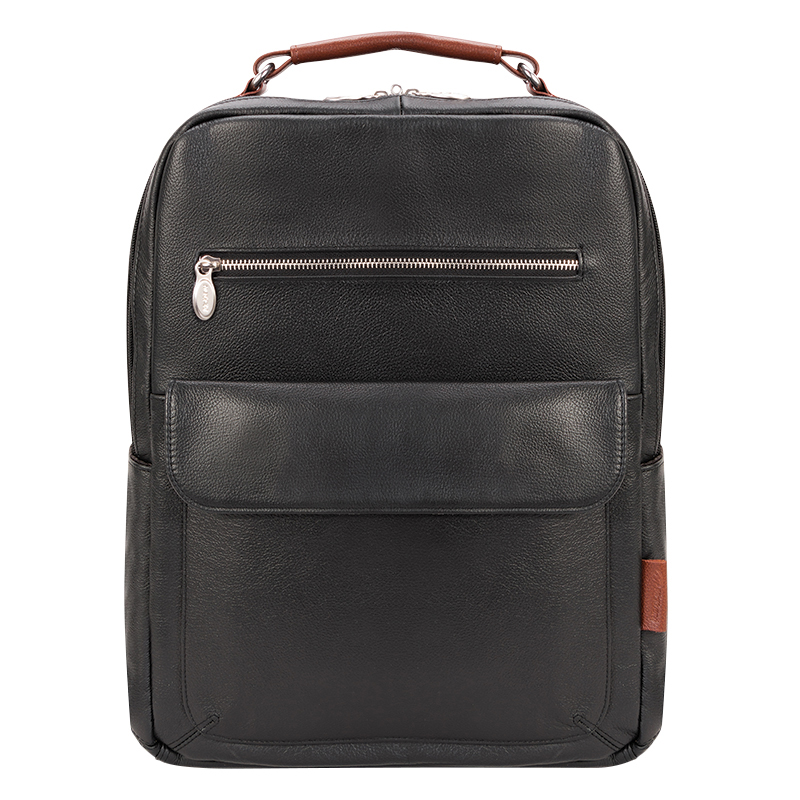 Logan Leather Backpack - Black