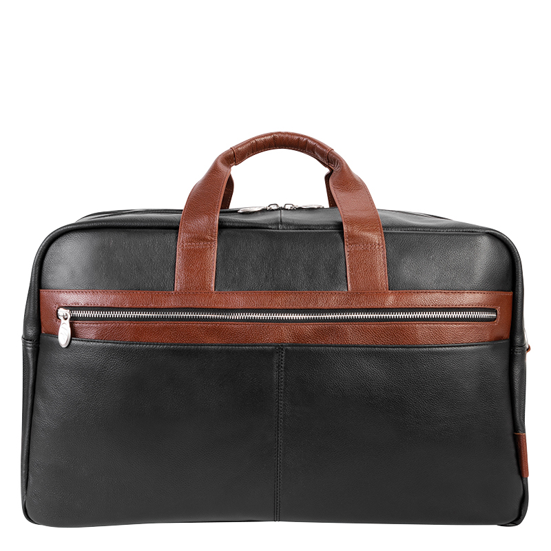 Wellington Leather Duffle - Black