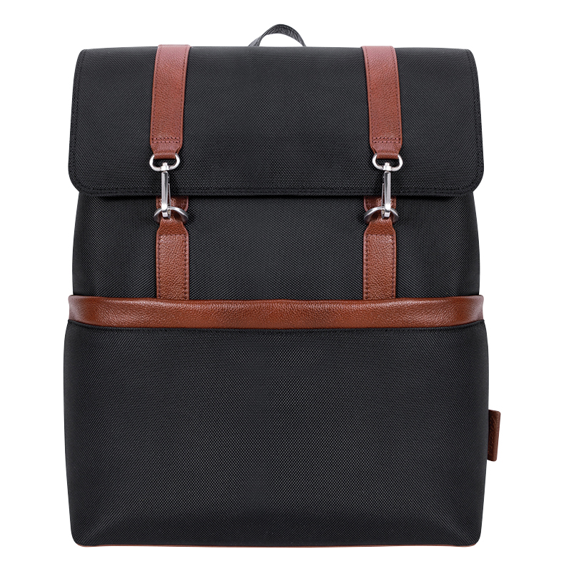 Element Nylon with Leather Trim Backpack - Black