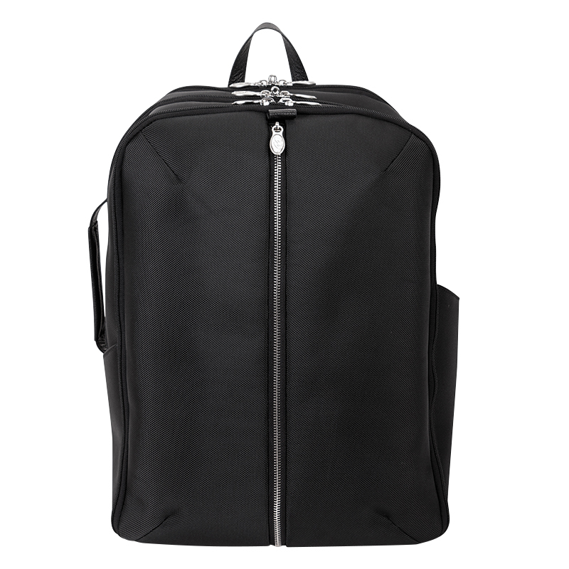 Englewood Nylon with Leather Trim Weekend Backpack - Black