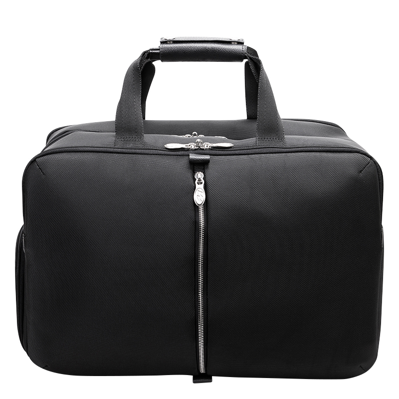 Avondale Nylon with Leather Trim Duffle - Black