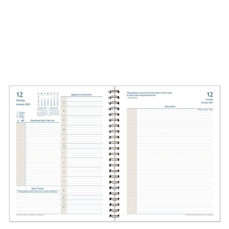 Monarch Compass Daily Wire-Bound Planner Kit - Jan 2021 - Dec 2021