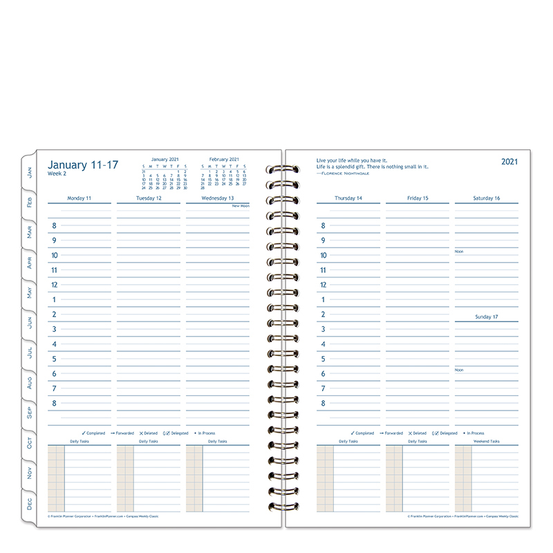 Classic Compass Weekly Wire-Bound Planner - Jan 2021 - Dec 2021