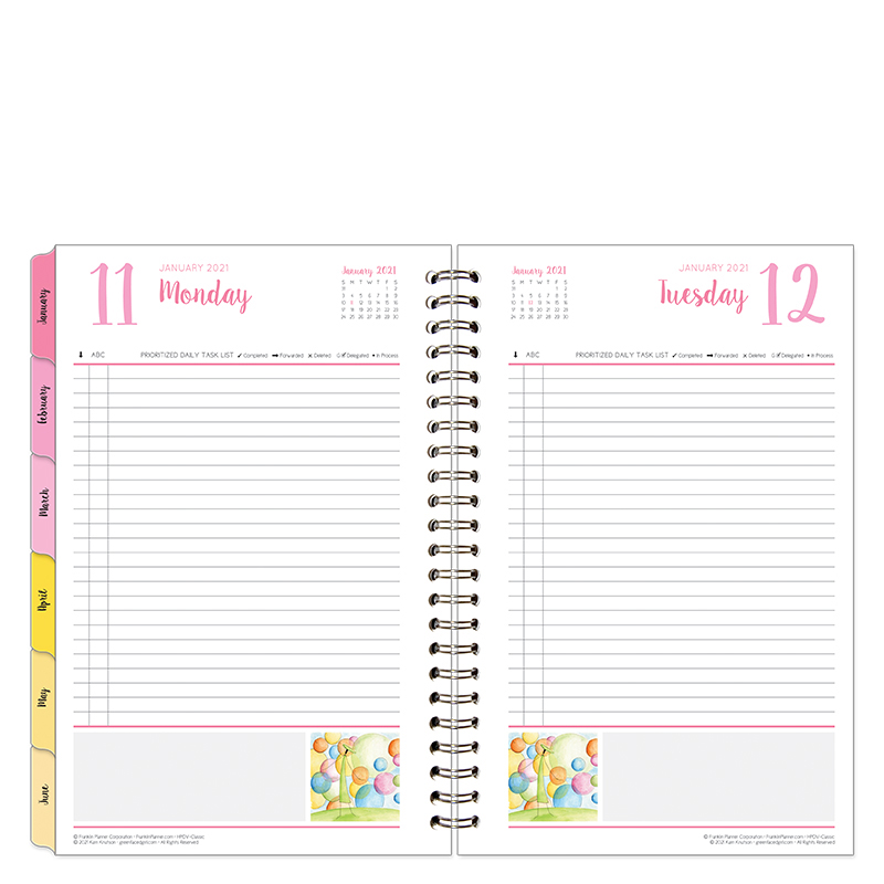 Classic Her Point Of View 1 Page Per Day 6 Month Wire-Bound Planner  - Jan 2021 - Jun 2021